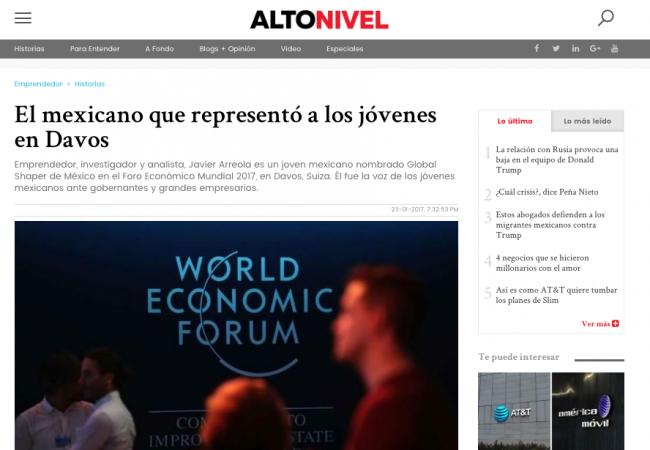 El mexicano que representó a los jóvenes en Davos