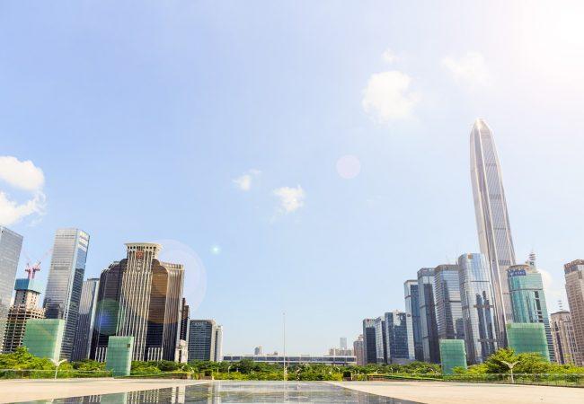 China, un patio trasero frondoso